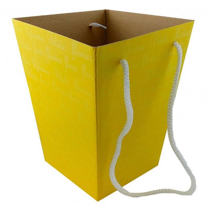 Коробка для цветов Желто-бежевая 12,5*18*22,5 см