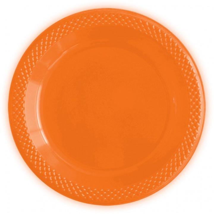 Тарелки пластиковые Делюкс Оранжевые