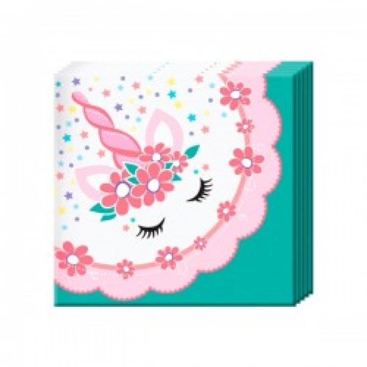 Салфетки Единорог Pink&Tiffany 12шт
