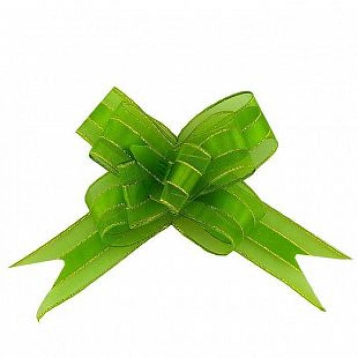 Бант-бабочка с золотой полоской 30 мм Зеленый