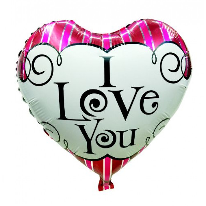 Фольгированный шар сердце ILY