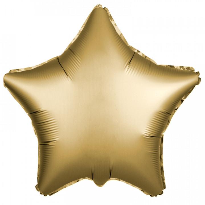 Звезда золотая фольга сатин