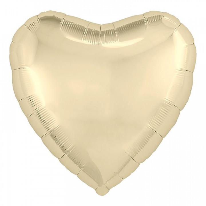 Фольгированный шар сердце Шампань