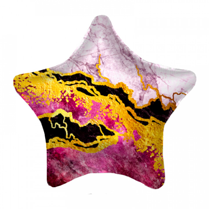 Звезда Ярко-розовая мрамор