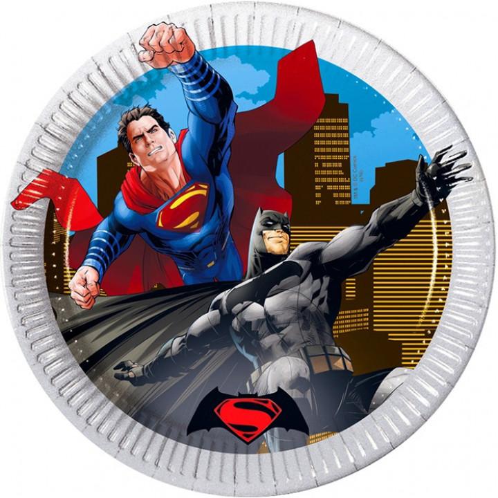 Тарелки бум-е Бэтмен против Супермена
