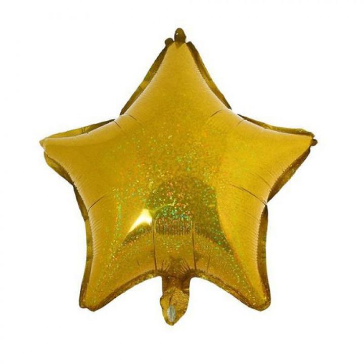 Звезда Голография золотой