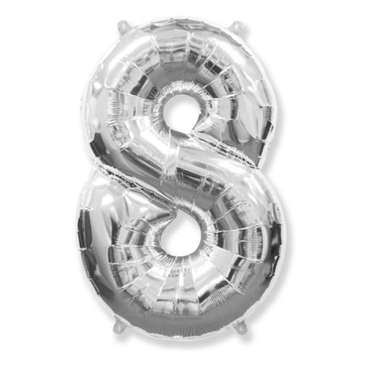 FM Фигура Цифра 8 серебро 36