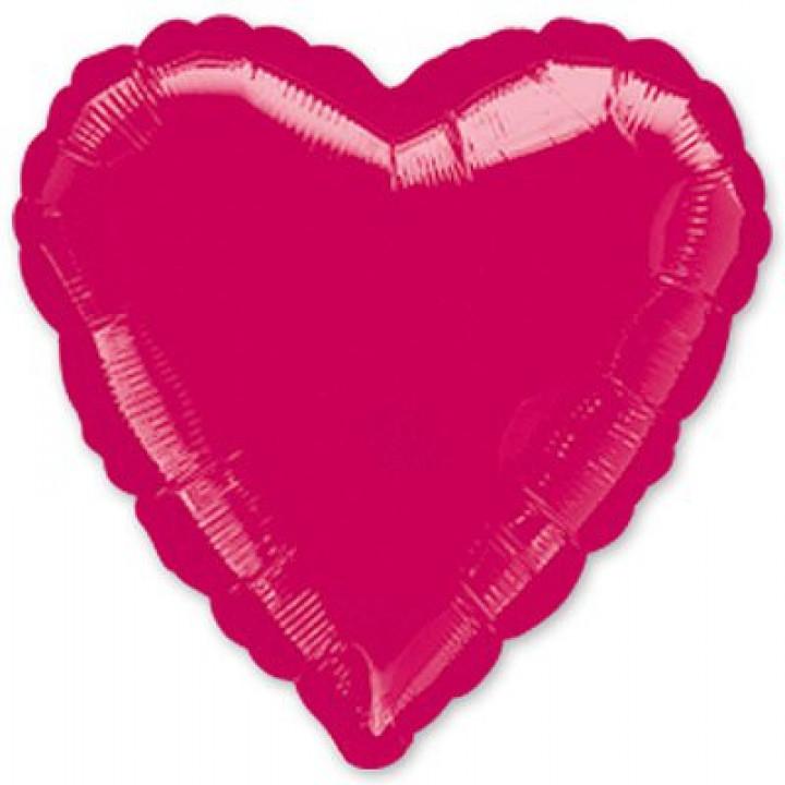 Фольгированный шар сердце металлик Burgundy